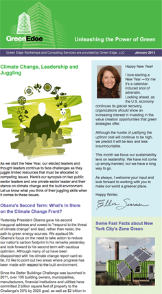 Green Edge newsletter